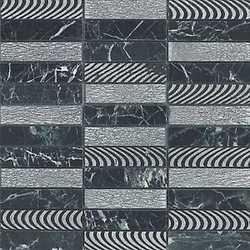Mosaico Argento ardesia 30 x 30 nero, argento