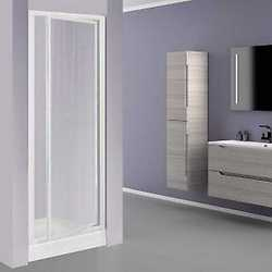 Porta doccia Elba 1 anta a battente stampato/bianco 78-82 cm