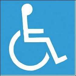 Pittogramma adesivo handicap