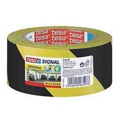 Nastro adesivo da segnalazione Tesa giallo e nero 66 m x 50 mm