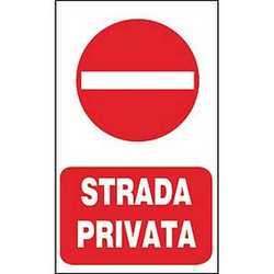 Targa strada privata