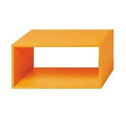 Mensola Kubic rettangolare arancione 70 x 35 cm