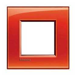 Placca 2 moduli BTicino Livinglight arancio