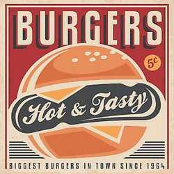 canvas Burgers 30x30