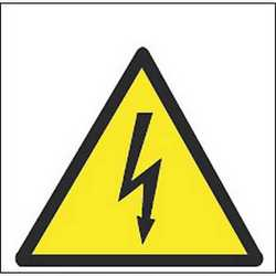 Pittogramma adesivo corrente elettrica