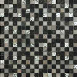 Mosaico Mix quatz 30X30 bianco, grigio