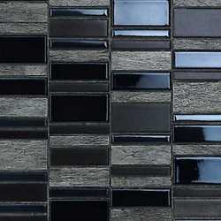 Mosaico Summer black 30X30 marrone, antracite