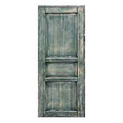 Porta da interno battente Old Town verde sbiancato 80 x H 210 cm