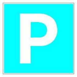Pittogramma adesivo parcheggio