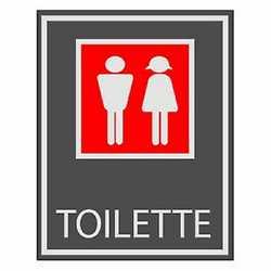 Targa adesiva toilette