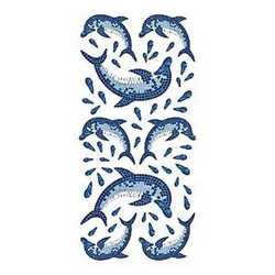 Creative Decor Dolphins Mosaic
