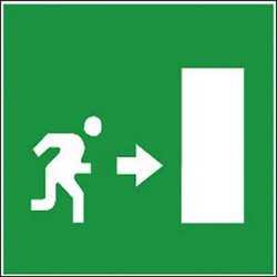 Pittogramma adesivo uscita sicurezza
