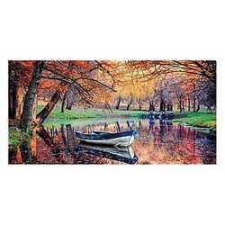 canvas Barchetta nel fiume 70x140