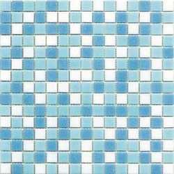 Mosaico Classic mix swimming 30 x 30 bianco, azzurro al mq