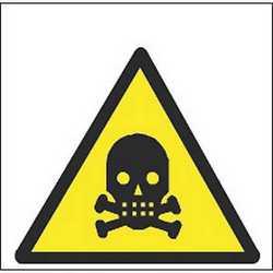 Pittogramma adesivo pericolo morte