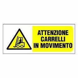 Targa movimento carrelli