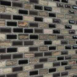 Mosaico Malibu' grey 30X30 bianco, nero, grigio