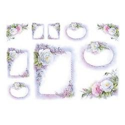 Carta di riso White Frames cornici 35 x 50 cm