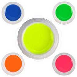 Kit 5 gel UV FLUO NEON da 5 ML fluorescente colorato glow nail r