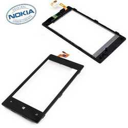 Touch screen vetro originale per Nokia Lumia 520 con frame corni