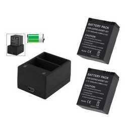 Caricabatteria da tavolo + 2 batterie AHDBT-201 BT-301 da 1600mA