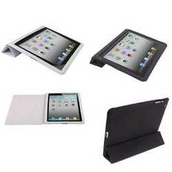 Custodia in pelle con smart cover per iPad 2/3