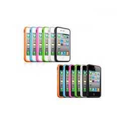 Bumper cover per iPhone 4 con tasti cromati + pellicola