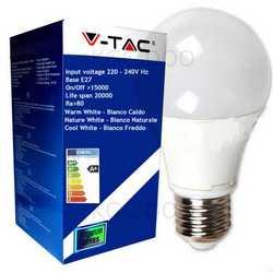 Lampada V-TAC LED E27 da 5W lampada sfera
