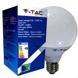 Lampada V-TAC LED E27 da 13W lampada globo