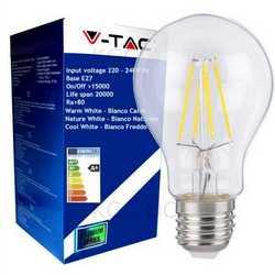 Lampada V-TAC LED E27 da 4W A60 filamento