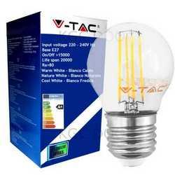 Lampada V-TAC LED E27 da 4W G45 filamento