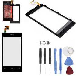 Touch screen display schermo vetro per Nokia Lumia 520 + kit smo