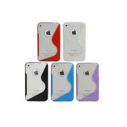 Cover per iPhone 4/4S grip antiscivolo in silicone trasparente