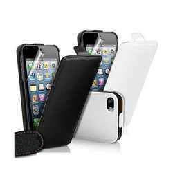 Custodia leather in eco pelle per Apple iPhone 5