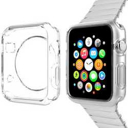 Cover case custodia in silicne trasparente tpu per Apple Watch 4
