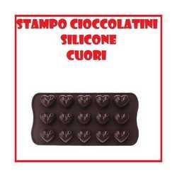 Stampo in silicone forma di cuore per biscotti e cioccolatini