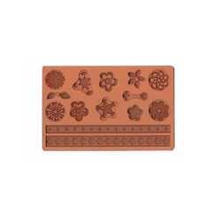 Stampi in silicone per decorazioni cerchi floreali