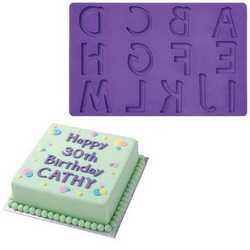 Stampo in silicone con tema lettere