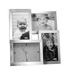 Orologio da parete portafoto in alluminio