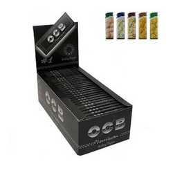 Cartine corte nere OCB Premium in confezione da due box