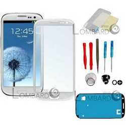 Vetro touch screen per display SAMSUNG S3 I9300 + Kit smontaggio