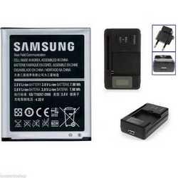 Caricabatteria rete casa con batteria originale per Samsung S3 I