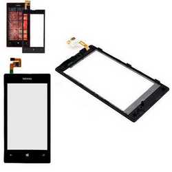 Touch screen vetro per Nokia Lumia 520 + frame e biadesivo displ