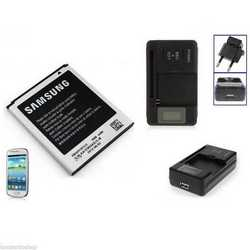 Batteria originale + caricabatteria rete casa per Samsung GALAXY
