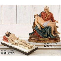 Statua Pieta' in resina cm 21