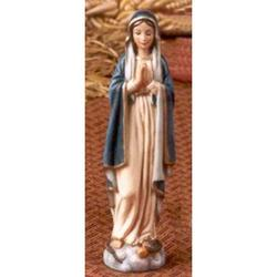 Statua Madonna Immacolata mani giunte cm 12 resina