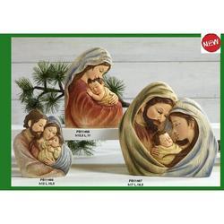 Sacra Famiglia Mezzobusto 12 cm in resina