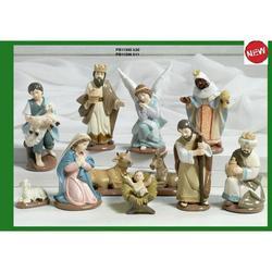 Set Presepe con 11 personaggi in resina da cm 11