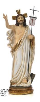 Statua Cristo Risorto cm 14.2 in resina