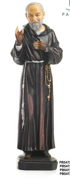 Statua Padre Pio in resina da cm 30
